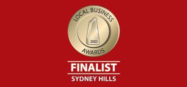 Finalist 2021 - Local Business Awards, Sydney Hills